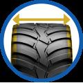 Flotation trac Tyre
