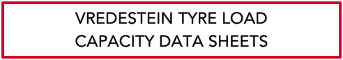 Tyre Load Capacity Data Sheets